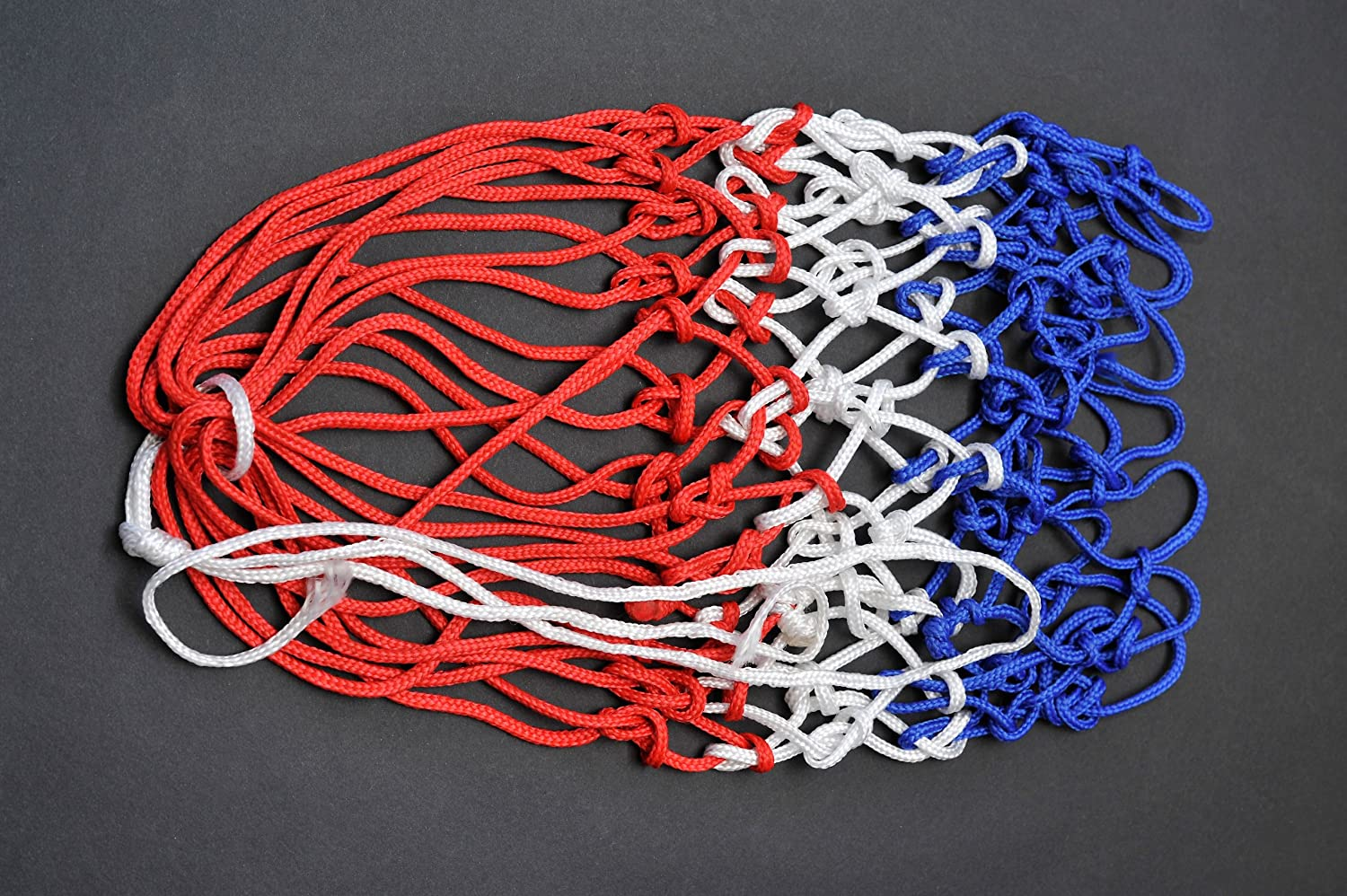 Netball net 3mm twine made in Britian. (Blue White and Red) Avonstar Trading