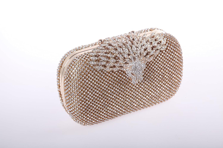 Amazon.com: fawziya Leopard Head Monederos y bolsos vidrio ...