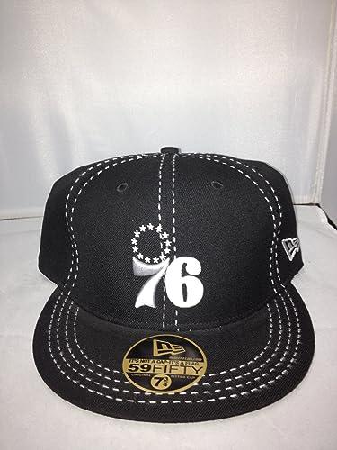 New Era Philadelphia 76Ers Fitted Black White 118 Style  HAT-118-BLACK 85247acfbe2