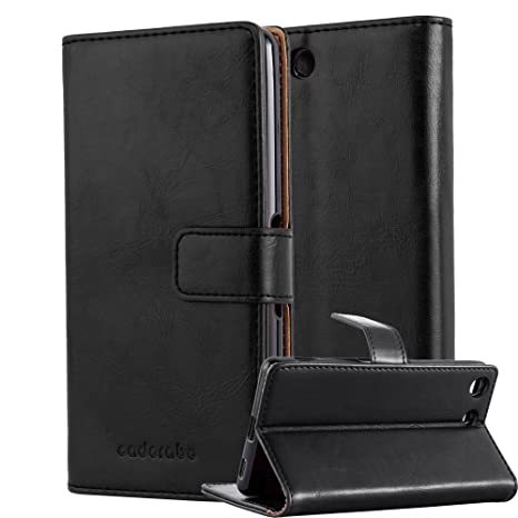 Cadorabo Funda Libro para Sony Xperia M5 en Negro Grafito – Cubierta Proteccíon con Cierre Magnético, Tarjetero y Función de Suporte – Etui Case Cover ...