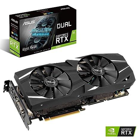 ASUS DUAL-RTX2060-A6G - Tarjeta gráfica (NVIDIA GeForce RTX 2060, 6 GB, GDDR6, 192 bit, 7680 x 4320 Pixeles)