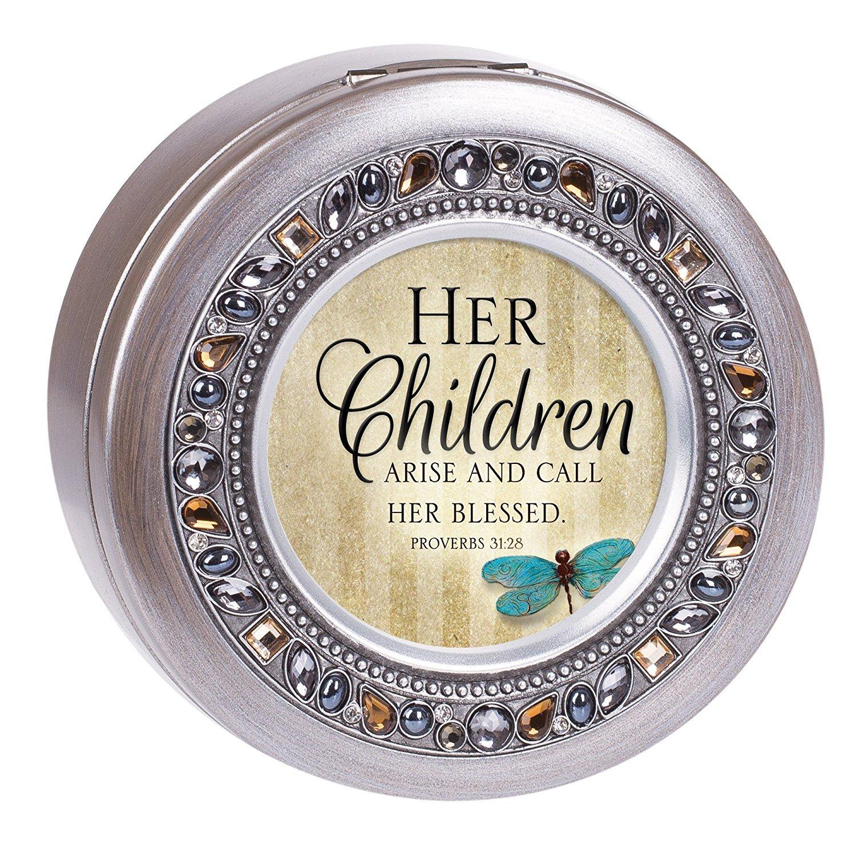 【希望者のみラッピング無料】 Her Her Children Call Call Her Blessed Jewelled Pewter Coloured Round Round Music Box Plays Amazing Grace B01NBVSRSJ, 今帰仁村:56adcbc4 --- arianechie.dominiotemporario.com