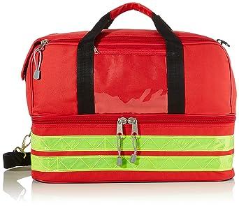 GIMA Life-2, Bolsa grande de color rojo, para emergencias, traumatismos, rescates, médicos, primeros auxilios, enfermeros, paramédico, con diversos ...