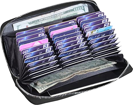 Credit Card Organizer Wallet gift present surpri Holder 18 Card Slots