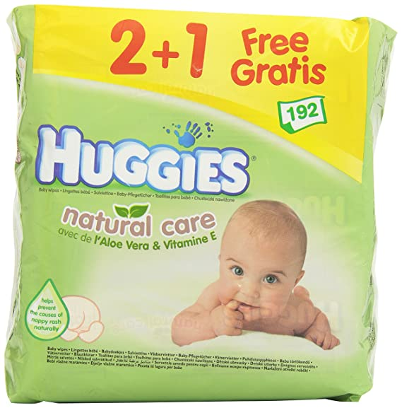 Huggies - Toallitas Natural Care 2+1 Huggies 192 uds