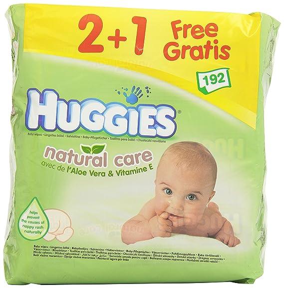 Huggies - Toallitas Natural Care 2+1 Huggies 192 uds