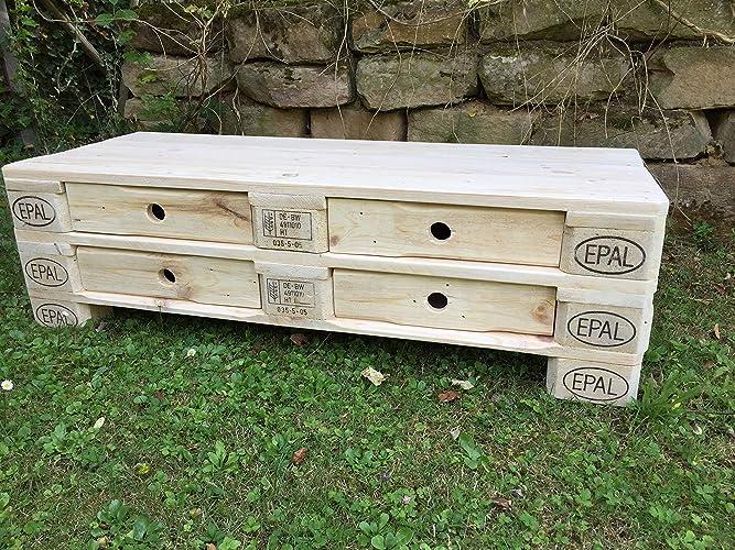 Palettenmöbel Sideboard Kommode Brescia Aus Paletten Natur Mit