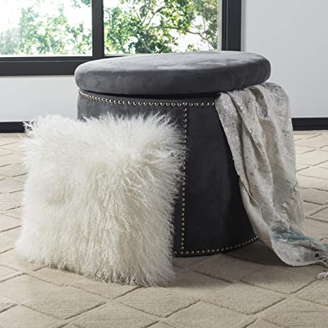 Amazon.com: Safavieh Faux Flokati – Almohada para manta ...