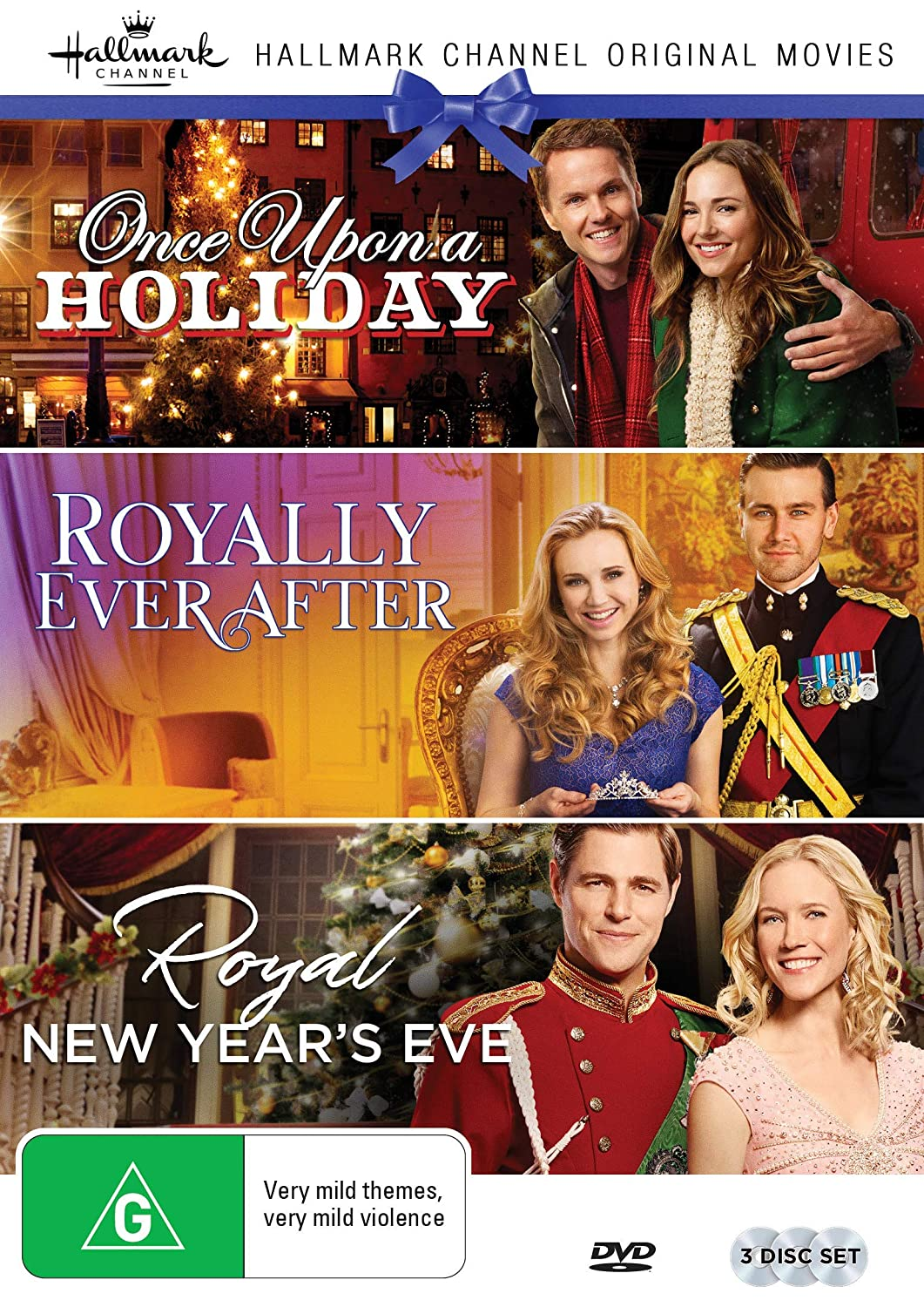 Hallmark Royal 3 Film Collection (Once Upon a Holiday/Royally Ever After/Royal New Years Eve) Briana Evigan Paul Campbell Fiona Gubelmann Sam Page
