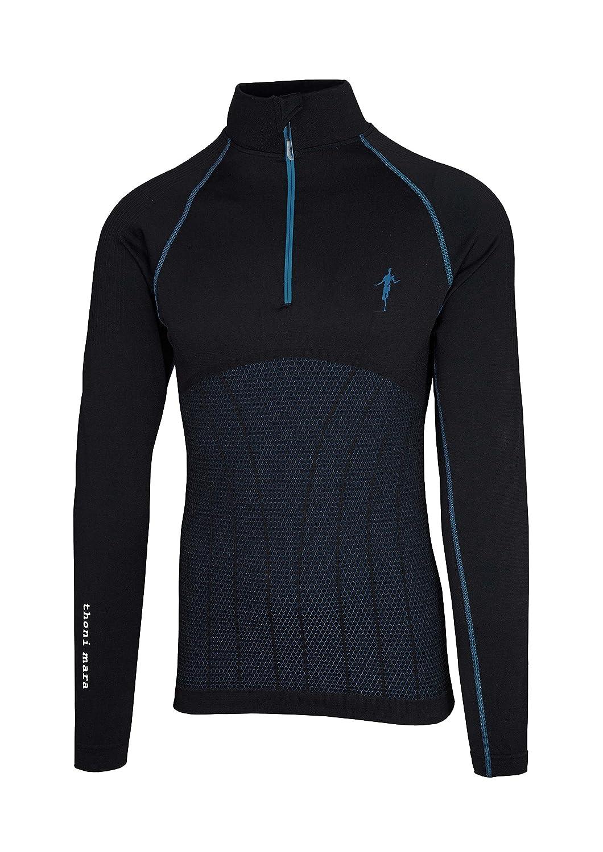 Thoni mara Herren Laufpullover mit ¼ Reißverschluss. Hochfunktionelle Running-Pullover in frischen Farben und zu 100 % in Deutschland gefertigt - 1/4 - einviertel - ein viertel