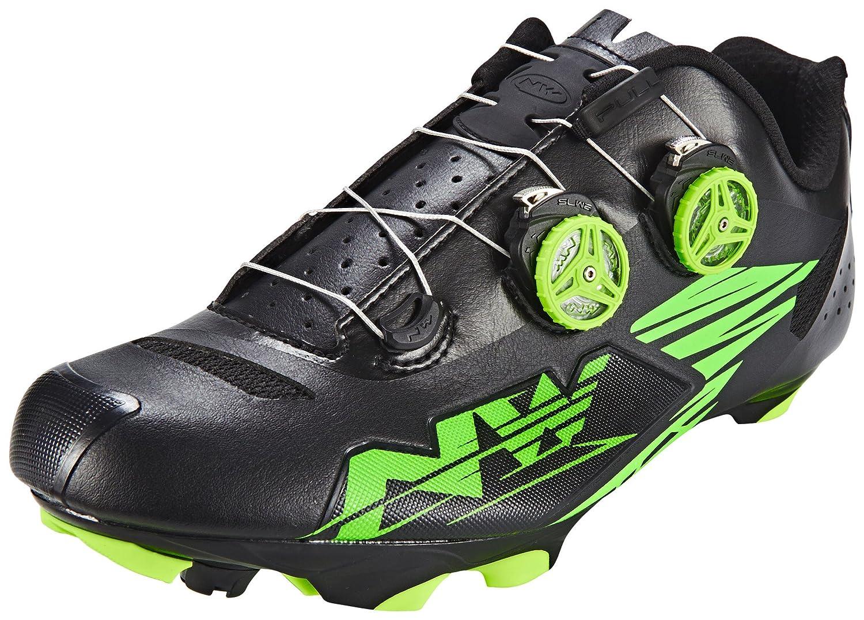 ノースウェーブブラックグリーンFluo 2017 Blaze Plus MTB Shoe 12 US  B01LYBZ80U