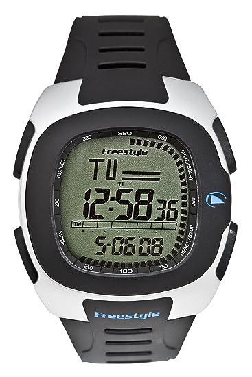 Freestyle Nomad - Reloj digital de caballero de cuarzo con correa de goma negra (alarma