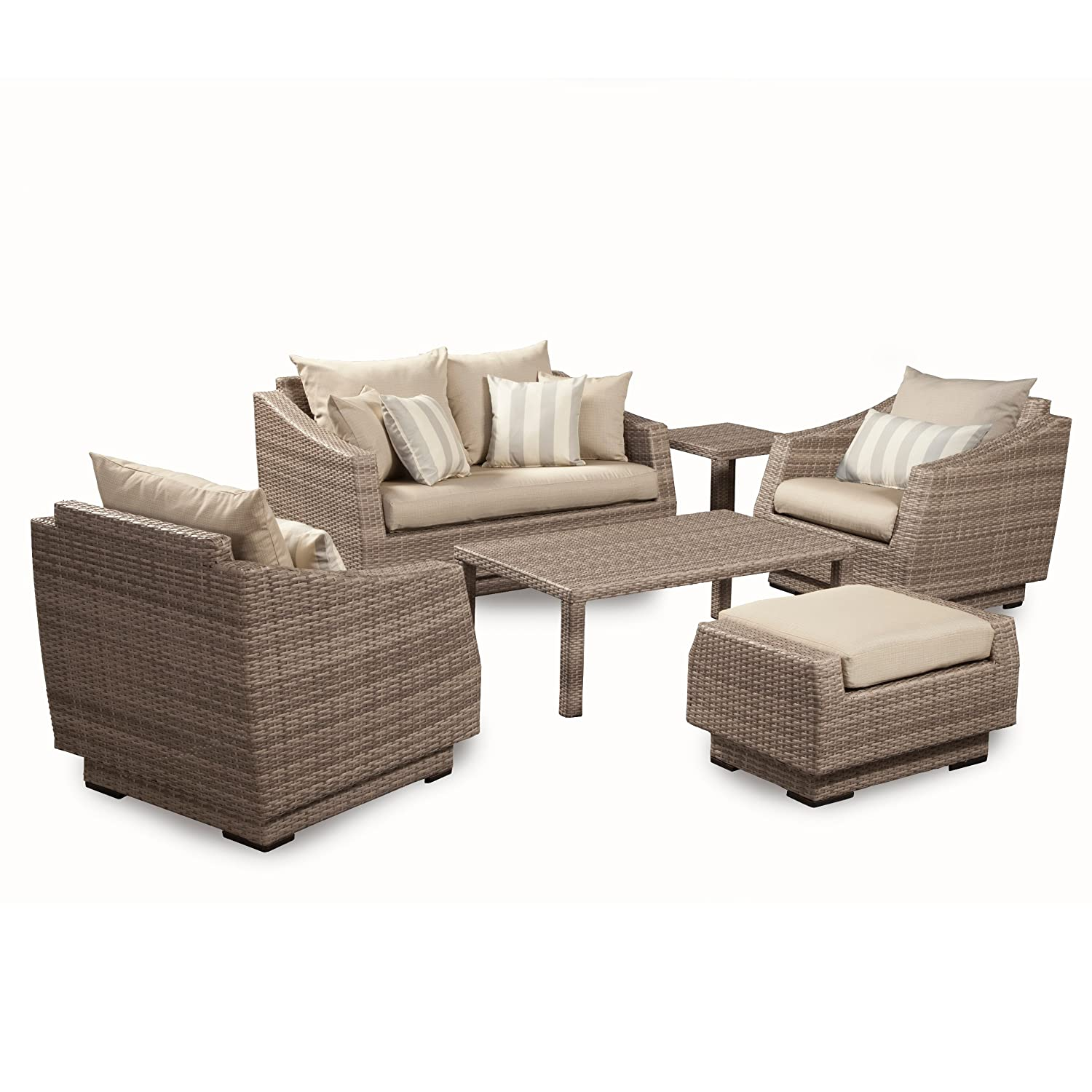 Amazon RST Brands 6 Piece Cannes Love and Club Deep Seating