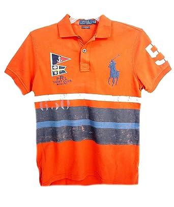 Polo Ralph Lauren Mens Yacht Club Polo Shirt Orange Small
