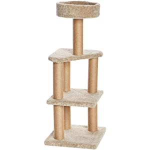 AmazonBasics Cat Tree with Scratching Posts