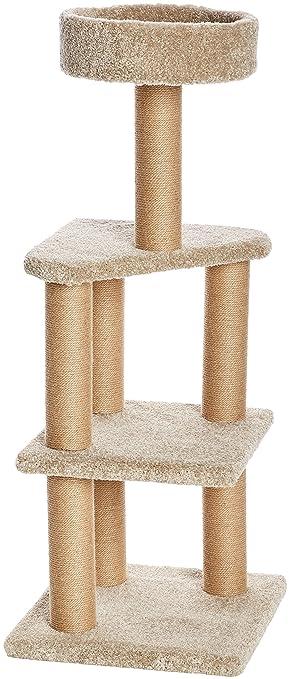 AmazonBasics - Árbol de gatos con postes rascadores - Grande ...