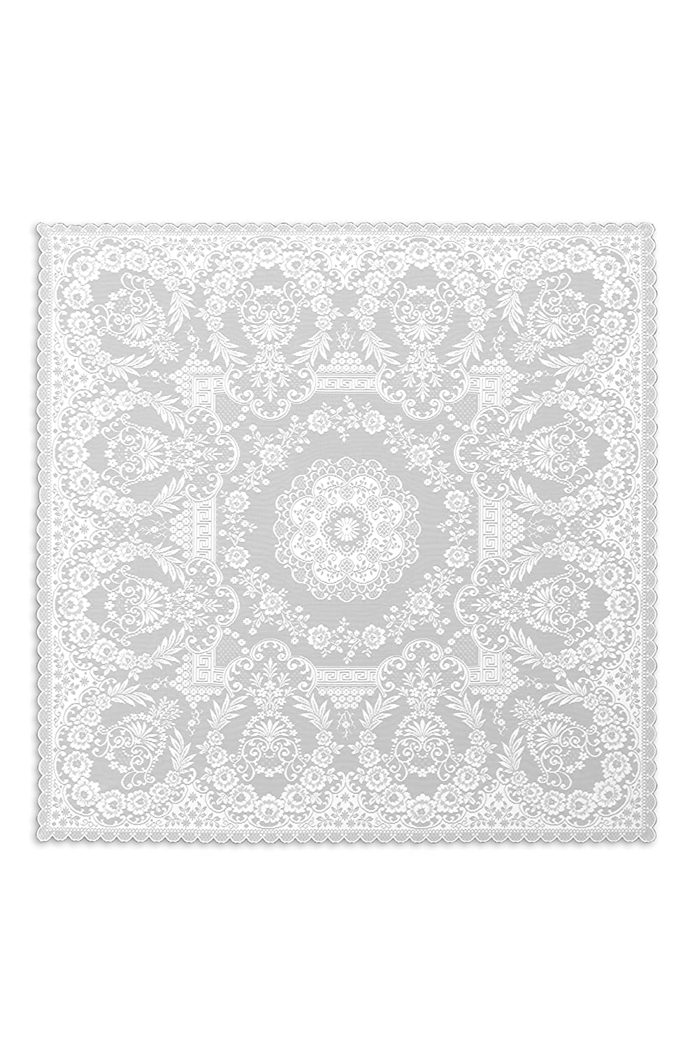 White Downton Abbey Lace Grantham Table Topper
