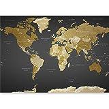 "artgeist Wall Mural World Map 196.8""x110.2"" XXL Non-Woven Wallpaper Fleece Wall Decor Photo Print Picture Image Design…"