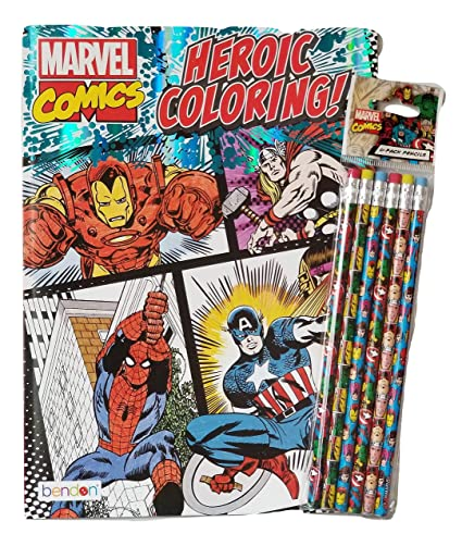 Marvel Comics Coloring Book for Adults Relaxation Set ...