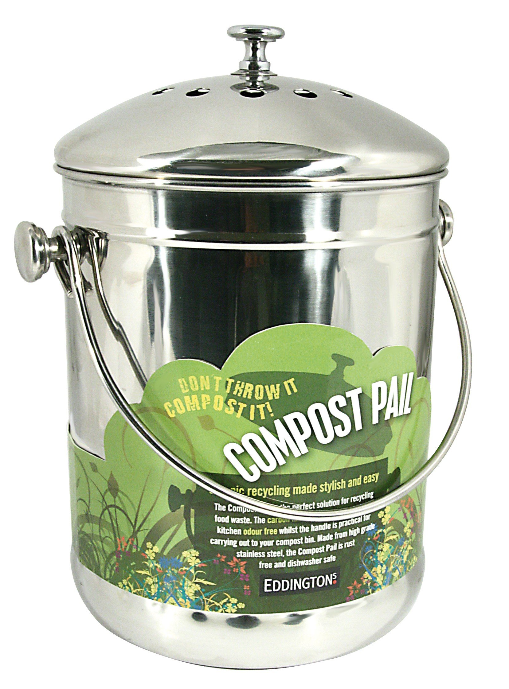 Eddingtons Compost Pail, Stainless Steel