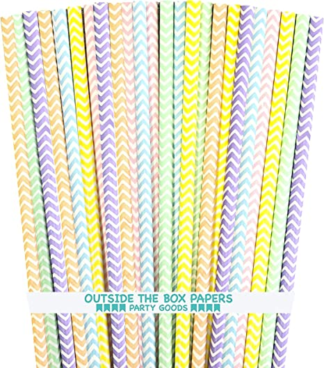 MADE IN USA Drinking Straws Green Paper Straw Mint Wedding Straws Mint Chevron Straws Paper Straws Baby Shower 25 Mint Paper Straws