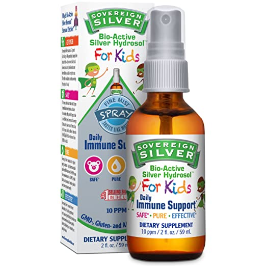Sovereign Silver® For Kids Bio-Active Silver Hydrosol™ for Immune Support* - 2oz – Fine Mist Spray - Ultimate Refinement of Colloidal Silver - Safe*, Pure and Effective* - Premium Silver Supplement