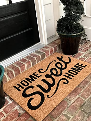 Natural Coir Doormat 30 L X 18 W, Home Sweet Home 10-Pack
