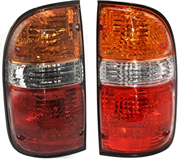 For 1995-2000 Toyota Tacoma Tail Lights Lamps Driver /& Passenger Side LH+RH