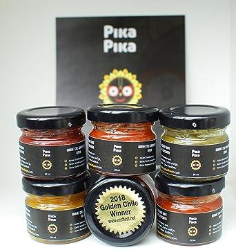 """""""Kit de pruebas"""" - 6 salsas Pika Pika (diversos niveles de Picor"""
