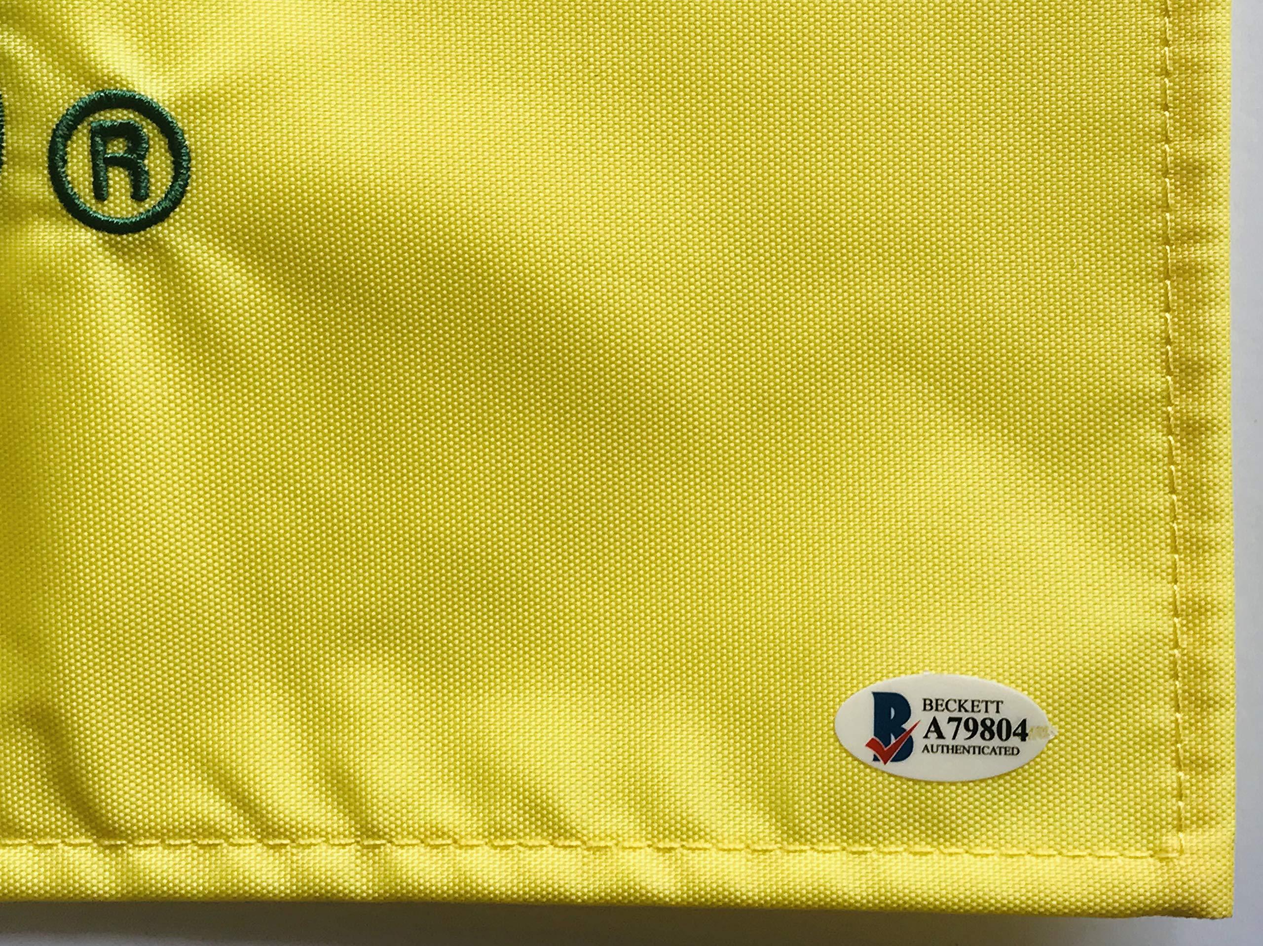 Jack Nicklaus signed Masters golf flag undated beckett loa pga augusta national