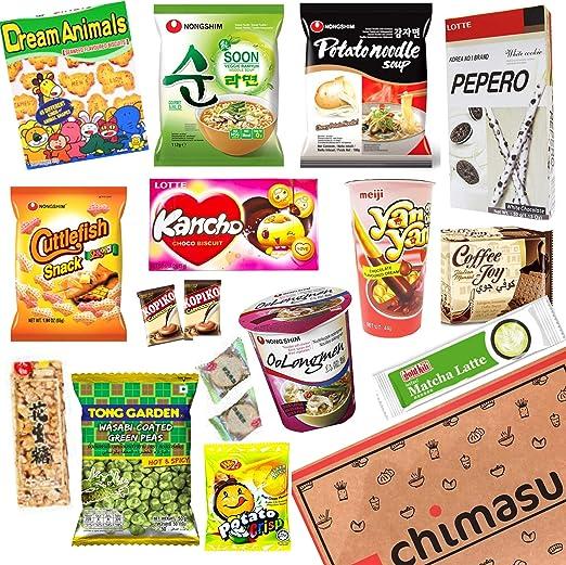 Chimasu - Caja de aperitivos asiáticos (variedad), Chimasu Box - Variety 3 (Savoury): Amazon.es: Hogar
