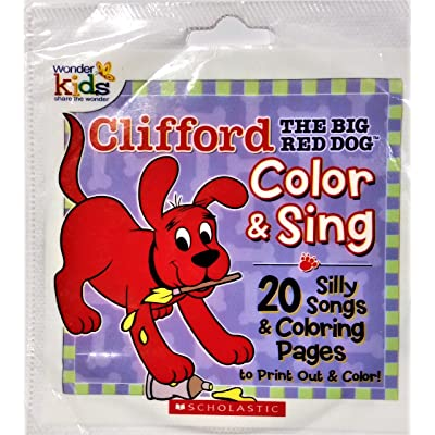 Clifford The Big Red Dog Color & Sing 20 Silly Songs [CD-ROM]: Toys & Games