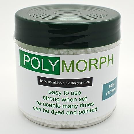 Polyshape - Plástico polimórfico moldeable a mano, bote de 500 g