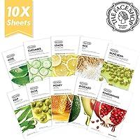 THE FACE SHOP REAL NATURE MASK SHEET Set (Aloe, Cucumber, Lemon, Rice, Honey, Avocado, Pomegranate, Olive, Kelp, Mung Bean)