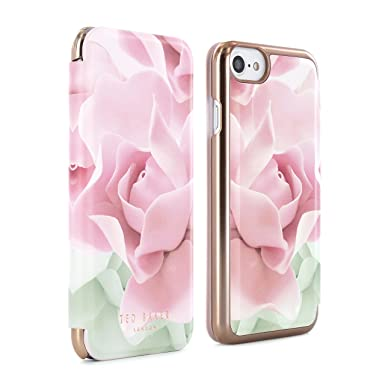 uk availability cf11c a9de6 Official TED BAKER AW16 KNOWAI Mirror Folio Case for iPhone 8, 7, 6S -  PORCELAIN ROSE - NUDE