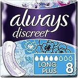 Always Discreet Inkontinenz-Einlagen+ Long Plus Bei Blasenschwäche, 5er Pack (5 x 8 Stück)