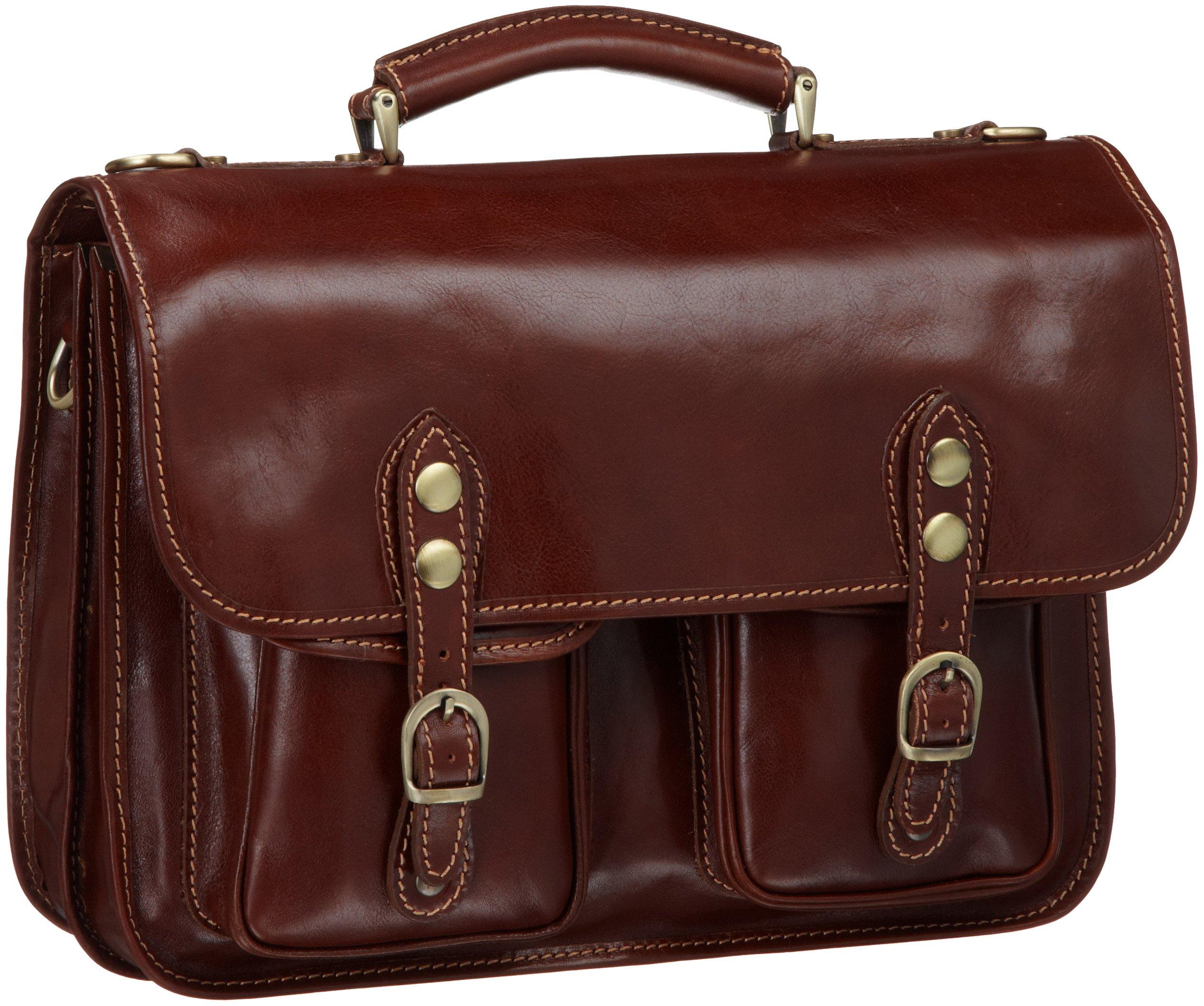 Floto Luggage Poste Messenger Bag, Brown, One Size