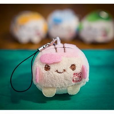 - Adorable breloque Kawaii pour téléphone portable ou porte-clés, peluche douce et colorée, bloc de tofu chinois, expression souriante, 3 à 4cm, dessin animé, animal jouet, acce