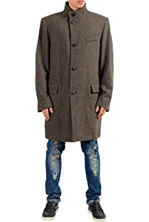 903d884eea6 Amazon.com  Hugo Boss Hugo Mens C-Sintrax Band Collar Coat 46R Dark ...