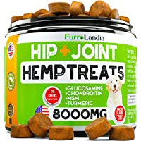FurroLandia Hemp Hip & Joint Supplement for Dogs - 170 Soft Chews - Made in USA...