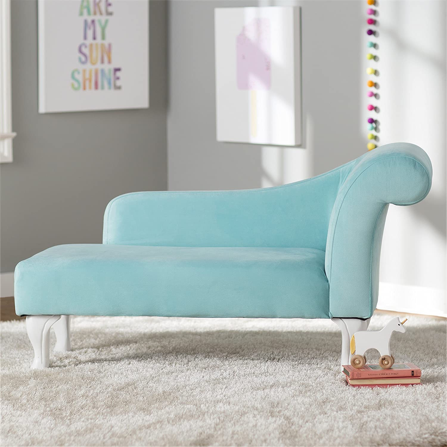 Turquoise Living Room Furniture Amazoncom Contemporary Stylish Furniture Kids Chaise Lounge