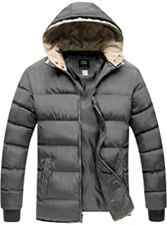 e437d10f87a ZSHOW Men s Winter Thicken Jacket Warm Double Hooded Quilted Cotton Coat
