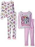 My Little Pony Girls' Big 4-Piece Cotton Pajama