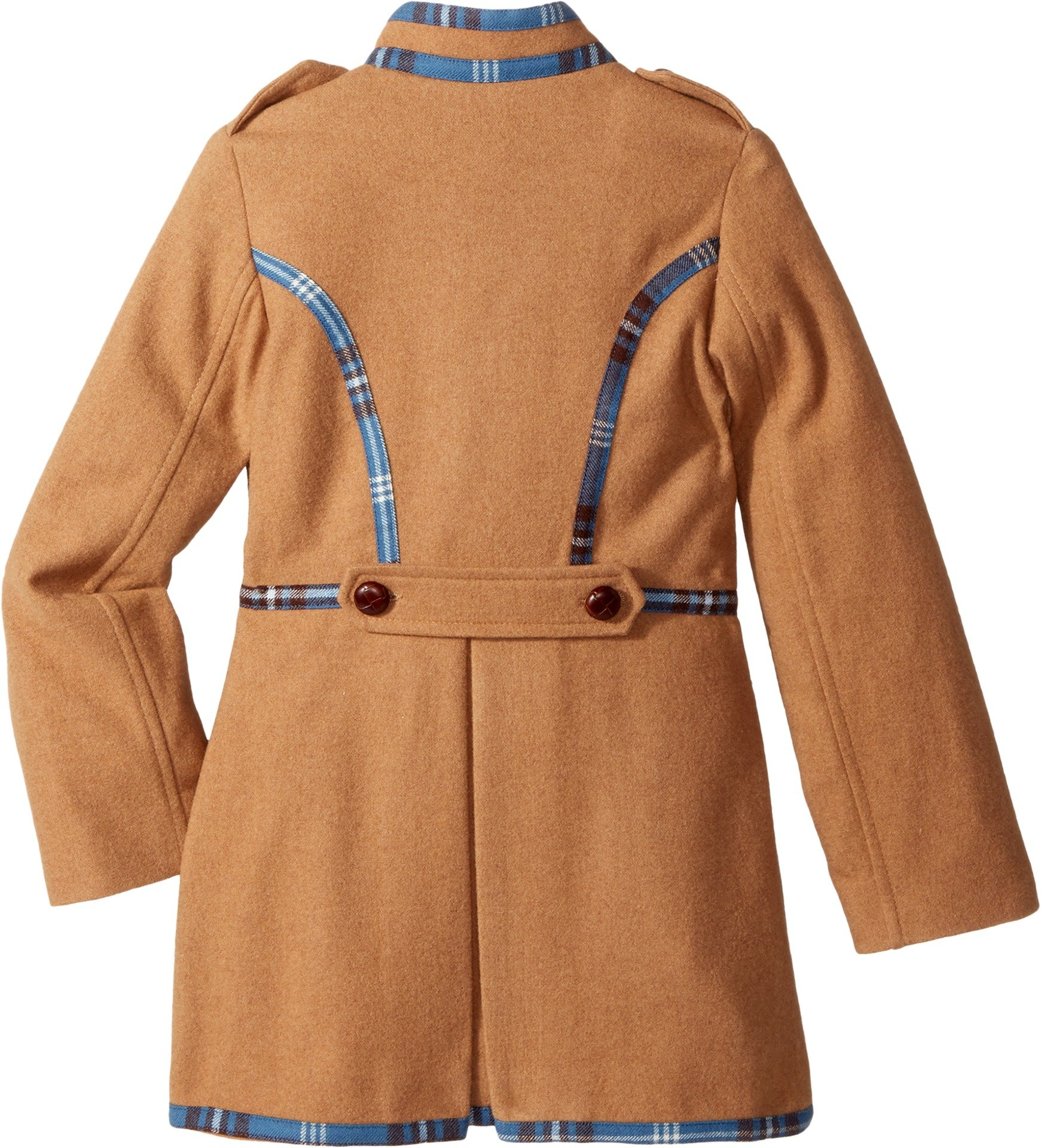 Oscar de la Renta Childrenswear Baby Girl's Wool Drill Coat (Toddler/Little Kids/Big Kids) Camel 14 (Big Kids)
