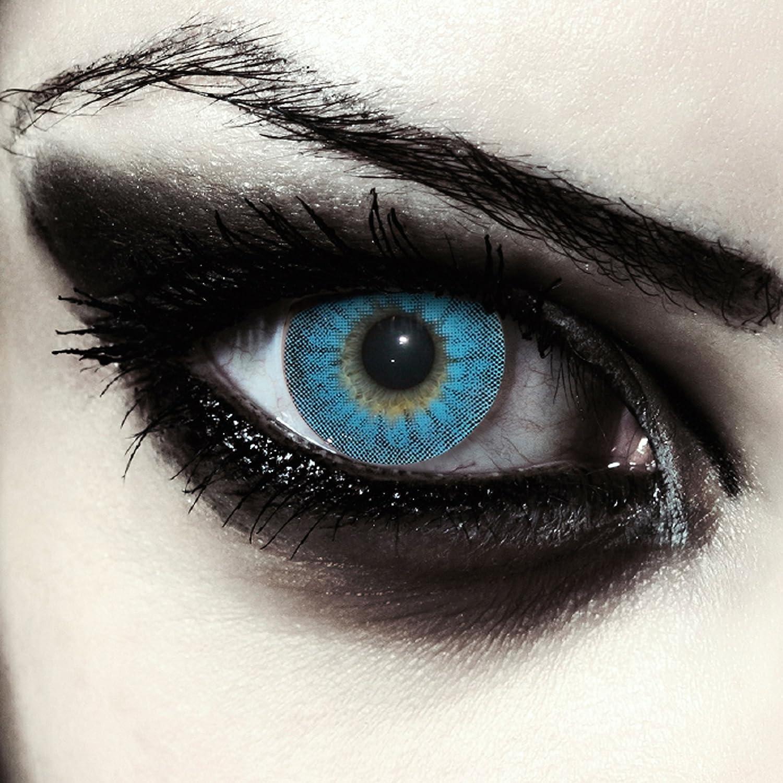 Lenti a contatto colorate blu mannaro per halloween 1b7c16156eaa