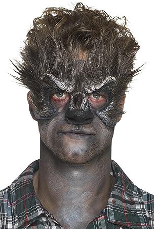 Smiffys Smiffys-46789 Prótesis de látex de Espuma, Cabeza de Hombre Lobo, con