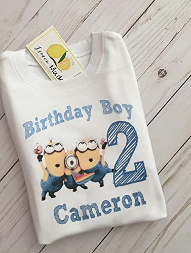 Amazon Minion Birthday Boy Shirt With Name And Digit Handmade