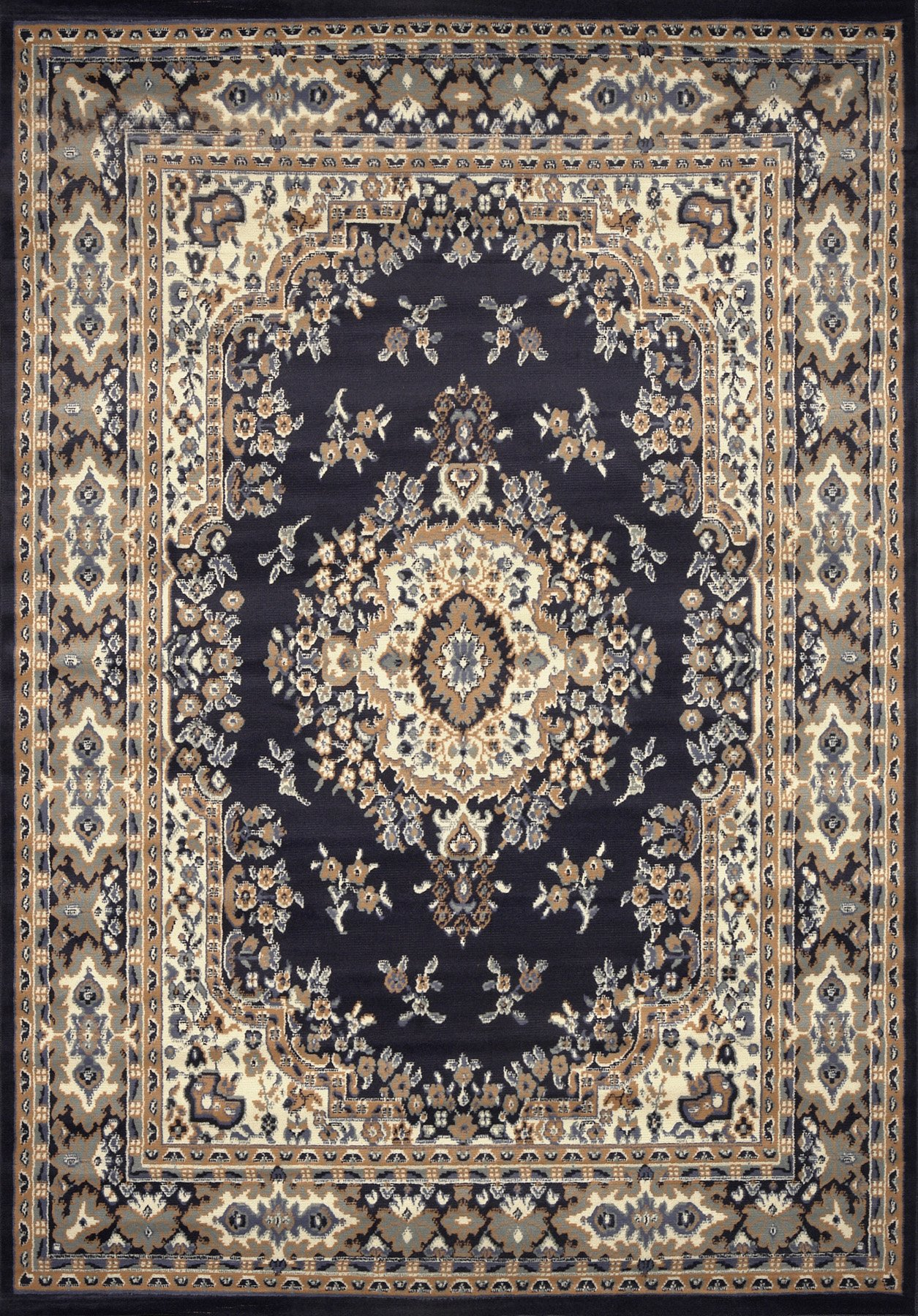Home Dynamix 10-7069-300 Premium Collection Area Rug, 9 x 12-Feet, Navy Blue by Home Dynamix