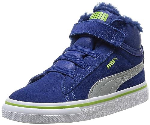Puma Mid Vulc FUR V Kids 354143, Unisex Kinder Hohe Sneakers