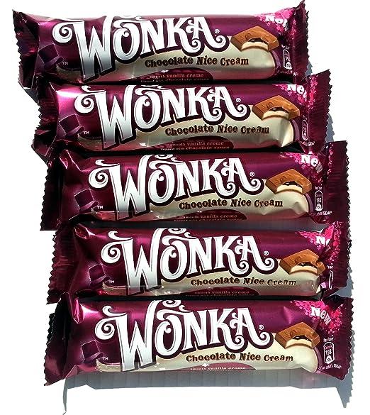 All New Wonka Bars Pack Of 5 X 37g Chocolate Nice Cream